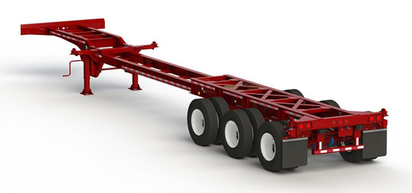 40'/45'/48'/53' Extendable Tri-Axle Chassis